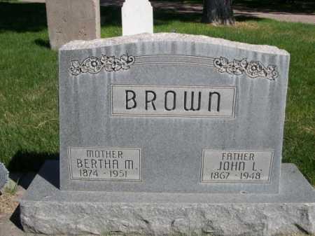 BROWN, JOHN L. - Dawes County, Nebraska | JOHN L. BROWN - Nebraska Gravestone Photos