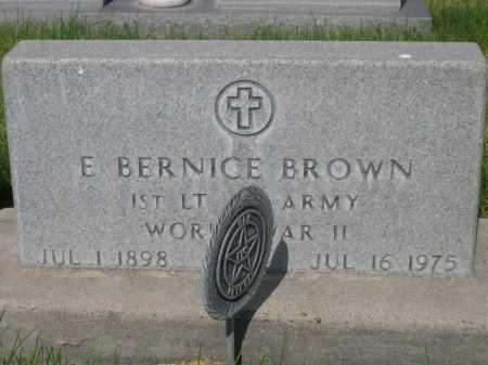 BROWN, E. BERNICE - Dawes County, Nebraska | E. BERNICE BROWN - Nebraska Gravestone Photos