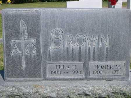 BROWN, EULA H. - Dawes County, Nebraska | EULA H. BROWN - Nebraska Gravestone Photos