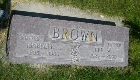 BROWN, LEE W. - Dawes County, Nebraska | LEE W. BROWN - Nebraska Gravestone Photos