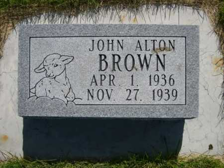 BROWN, JOHN ALTON - Dawes County, Nebraska | JOHN ALTON BROWN - Nebraska Gravestone Photos