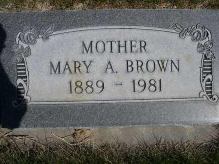 BROWN, MARY A. - Dawes County, Nebraska | MARY A. BROWN - Nebraska Gravestone Photos