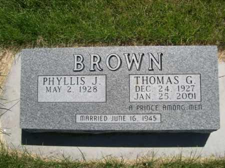 BROWN, PHYLLIS J. - Dawes County, Nebraska | PHYLLIS J. BROWN - Nebraska Gravestone Photos
