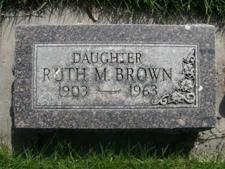 BROWN, RUTH M. - Dawes County, Nebraska   RUTH M. BROWN - Nebraska Gravestone Photos