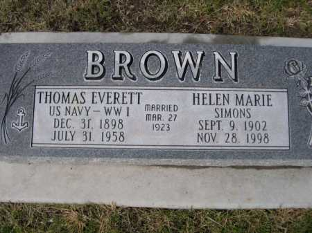 BROWN, THOMAS EVERETT - Dawes County, Nebraska   THOMAS EVERETT BROWN - Nebraska Gravestone Photos