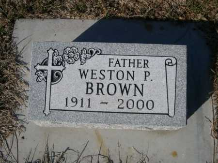 BROWN, WESTON P. - Dawes County, Nebraska | WESTON P. BROWN - Nebraska Gravestone Photos