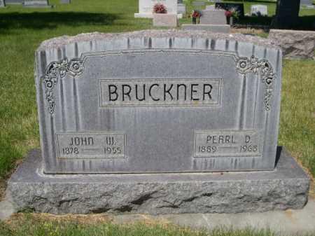 BRUCKNER, JOHN W. - Dawes County, Nebraska | JOHN W. BRUCKNER - Nebraska Gravestone Photos
