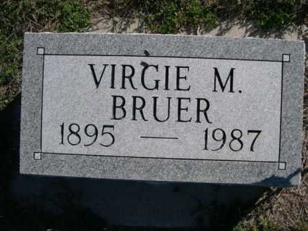 BRUER, VIRGIE M. - Dawes County, Nebraska   VIRGIE M. BRUER - Nebraska Gravestone Photos