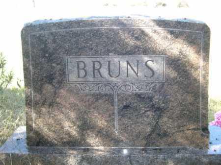 BRUNS, FAMILY - Dawes County, Nebraska | FAMILY BRUNS - Nebraska Gravestone Photos