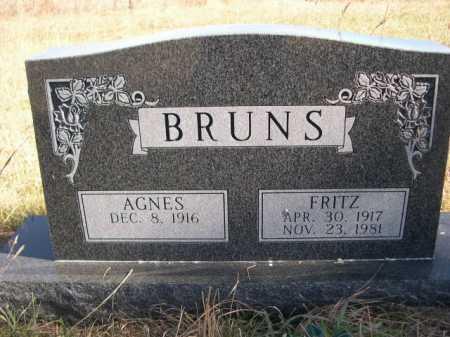 BRUNS, FRITZ - Dawes County, Nebraska   FRITZ BRUNS - Nebraska Gravestone Photos