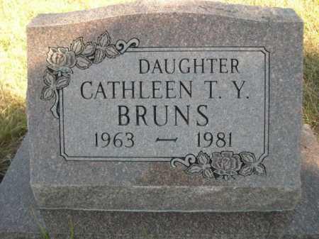 BRUNS, CATHLEEN T. Y. - Dawes County, Nebraska | CATHLEEN T. Y. BRUNS - Nebraska Gravestone Photos