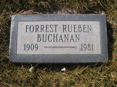 BUCHANAN, FOREST RUEBEN - Dawes County, Nebraska | FOREST RUEBEN BUCHANAN - Nebraska Gravestone Photos