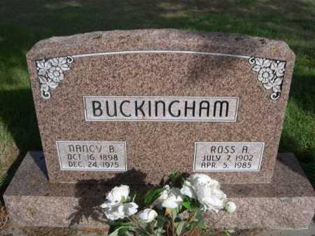 BUCKINGHAM, ROSS A. - Dawes County, Nebraska | ROSS A. BUCKINGHAM - Nebraska Gravestone Photos