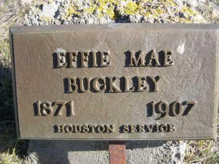 BUCKLEY, EFFIE MAE - Dawes County, Nebraska   EFFIE MAE BUCKLEY - Nebraska Gravestone Photos
