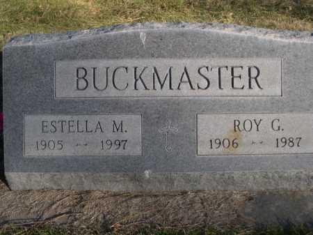 BUCKMASTER, ESTELLA M. - Dawes County, Nebraska | ESTELLA M. BUCKMASTER - Nebraska Gravestone Photos