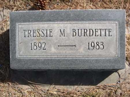 BURDETTE, TRESSIE M. - Dawes County, Nebraska | TRESSIE M. BURDETTE - Nebraska Gravestone Photos