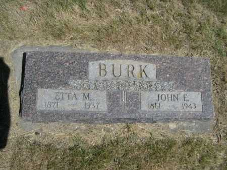 BURK, ETTA M. - Dawes County, Nebraska | ETTA M. BURK - Nebraska Gravestone Photos