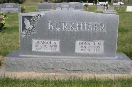 BURKHISER, DONALD M. - Dawes County, Nebraska | DONALD M. BURKHISER - Nebraska Gravestone Photos