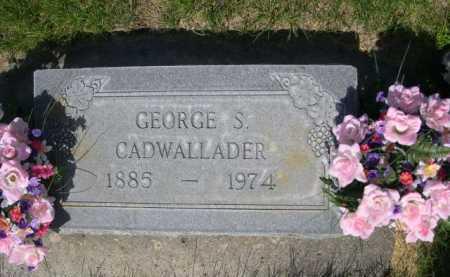 CADWALLADER, GEORGE S. - Dawes County, Nebraska | GEORGE S. CADWALLADER - Nebraska Gravestone Photos