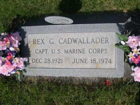 CADWALLADER, REX G. - Dawes County, Nebraska | REX G. CADWALLADER - Nebraska Gravestone Photos
