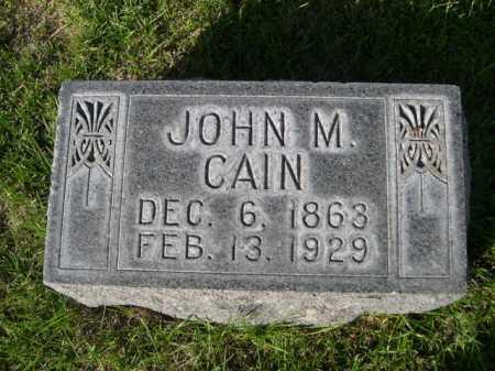 CAIN, JOHN M. - Dawes County, Nebraska | JOHN M. CAIN - Nebraska Gravestone Photos