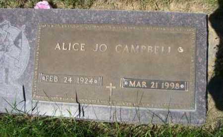 CAMPBELL, ALICE JO - Dawes County, Nebraska | ALICE JO CAMPBELL - Nebraska Gravestone Photos