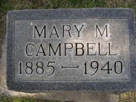 CAMPBELL, MARY M. - Dawes County, Nebraska | MARY M. CAMPBELL - Nebraska Gravestone Photos