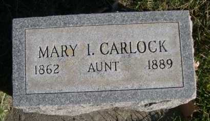 CARLOCK, MARY I. - Dawes County, Nebraska | MARY I. CARLOCK - Nebraska Gravestone Photos