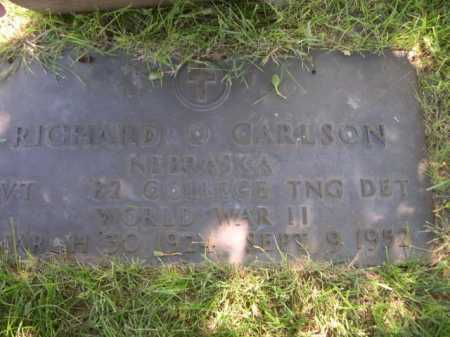 CARLSON, RICHARD - Dawes County, Nebraska | RICHARD CARLSON - Nebraska Gravestone Photos