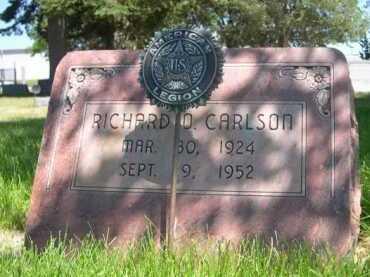 CARLSON, RICHARD O. - Dawes County, Nebraska | RICHARD O. CARLSON - Nebraska Gravestone Photos