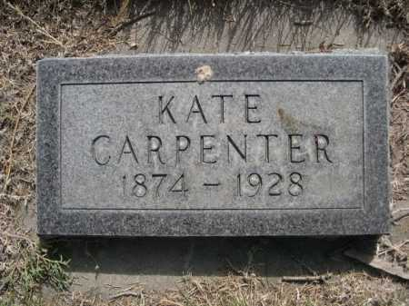 CARPENTER, KATE - Dawes County, Nebraska   KATE CARPENTER - Nebraska Gravestone Photos