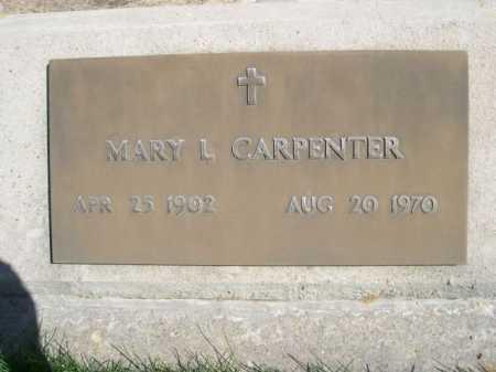 CARPENTER, MARY L. - Dawes County, Nebraska | MARY L. CARPENTER - Nebraska Gravestone Photos