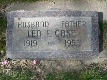 CASE, LEN F. - Dawes County, Nebraska | LEN F. CASE - Nebraska Gravestone Photos