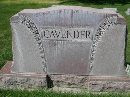 CAVENDER, FAMILY - Dawes County, Nebraska | FAMILY CAVENDER - Nebraska Gravestone Photos
