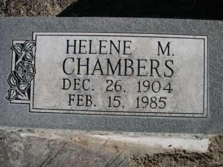 CHAMBERS, HELENE M. - Dawes County, Nebraska   HELENE M. CHAMBERS - Nebraska Gravestone Photos