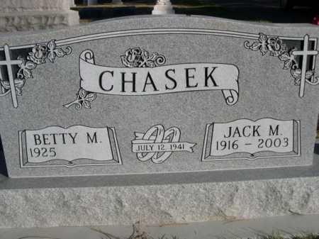 CHASEK, JACK M. - Dawes County, Nebraska   JACK M. CHASEK - Nebraska Gravestone Photos