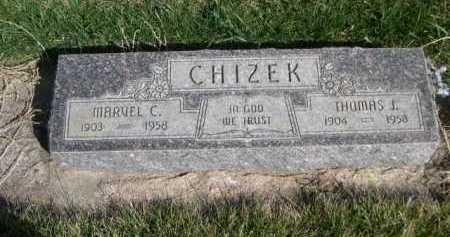 CHIZEK, MARVEL C. - Dawes County, Nebraska | MARVEL C. CHIZEK - Nebraska Gravestone Photos