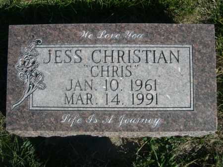 "CHRISTIAN, JESS ""CHRIS"" - Dawes County, Nebraska 