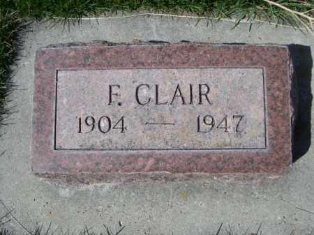 CLAIR, F. - Dawes County, Nebraska   F. CLAIR - Nebraska Gravestone Photos