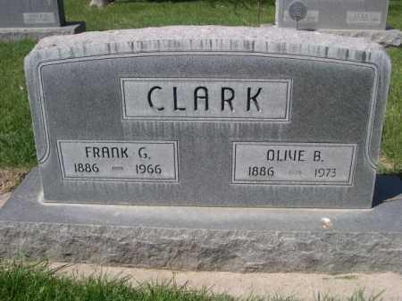 CLARK, OLIVE B. - Dawes County, Nebraska | OLIVE B. CLARK - Nebraska Gravestone Photos
