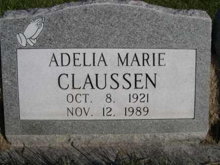 CLAUSSEN, ADELIA MARIE - Dawes County, Nebraska   ADELIA MARIE CLAUSSEN - Nebraska Gravestone Photos