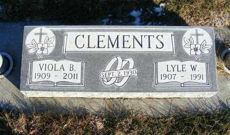 CLEMENTS, VIOLA B. - Dawes County, Nebraska | VIOLA B. CLEMENTS - Nebraska Gravestone Photos