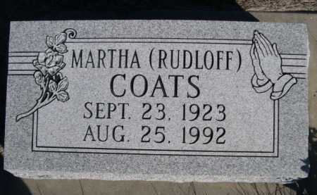 RUDLOFF COATS, MARTHA - Dawes County, Nebraska | MARTHA RUDLOFF COATS - Nebraska Gravestone Photos