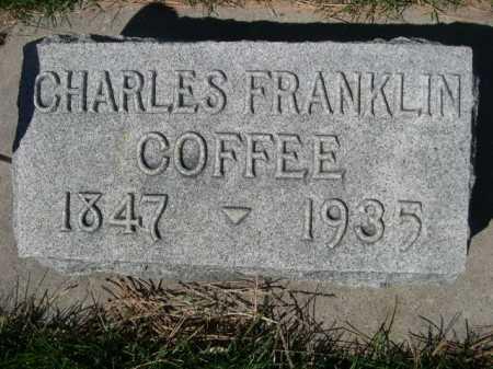 COFFEE, CHARLES FRANKLIN - Dawes County, Nebraska   CHARLES FRANKLIN COFFEE - Nebraska Gravestone Photos