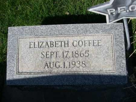 COFFEE, ELIZABETH - Dawes County, Nebraska   ELIZABETH COFFEE - Nebraska Gravestone Photos