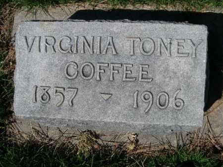COFFEE, VIRGINIA - Dawes County, Nebraska   VIRGINIA COFFEE - Nebraska Gravestone Photos