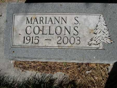 COLLONS, MARIANN S. - Dawes County, Nebraska   MARIANN S. COLLONS - Nebraska Gravestone Photos