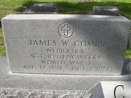 COMBS, JAMES W. - Dawes County, Nebraska   JAMES W. COMBS - Nebraska Gravestone Photos