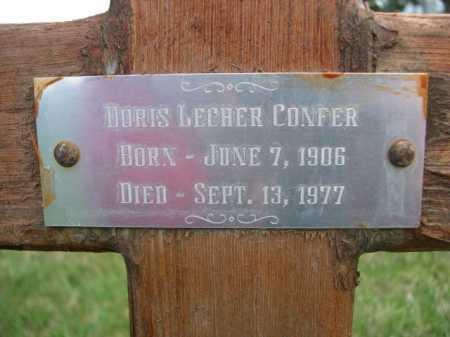 CONFER, DORIS LECHER - Dawes County, Nebraska | DORIS LECHER CONFER - Nebraska Gravestone Photos