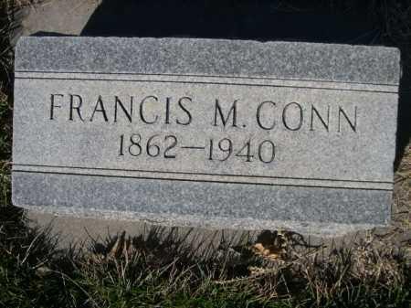 CONN, FRANCIS M. - Dawes County, Nebraska | FRANCIS M. CONN - Nebraska Gravestone Photos